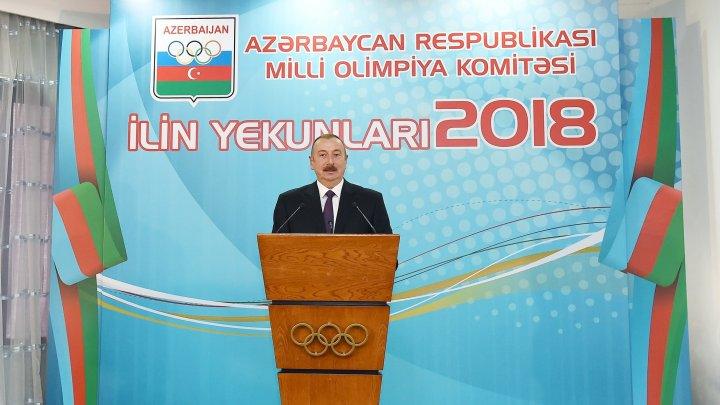 Azərbaycan Prezidenti ilin idman yekunlarına həsr olunan mərasimdə iştirak edib