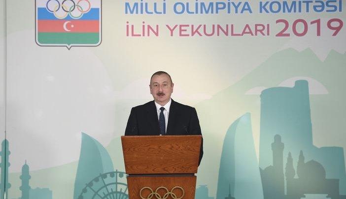 Azərbaycan Prezidenti İlham Əliyev 2019-cu ilin idman yekunlarına həsr olunan mərasimdə iştirak edib